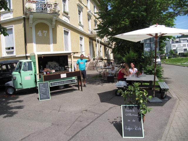 Kaffee-Kiste in der Wiehre Urachstrasse am 2.6.2012