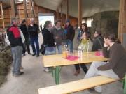 Küferhof am 21.4.2012: Grosszügige Bewirtung
