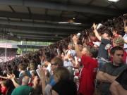 SC schlägt Köln mit 4:1 am 28.4.2012: Tor zum 3:1