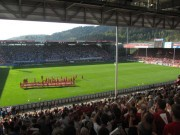 SC schlägt Köln mit 4:1 am 28.4.2012: Blick nach Westen nach Spielende
