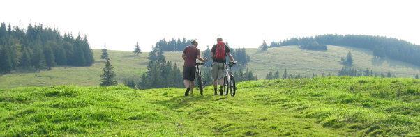 Westlich vom Feldberg: Blick nach Osten vom Ahornkopf zu Tote Mann am 31.8.2008 um 10 Uhr