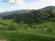 Blick nach Norden ins Foehrental zum Streckerhof am 1.5.2012