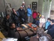 Hanisenhof am 5.5.2012: Im Wasserwerk mit Johannes Roesch links