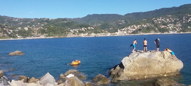 Ligurische Mittelmeerküste  bei Genua am 4.10.2018
