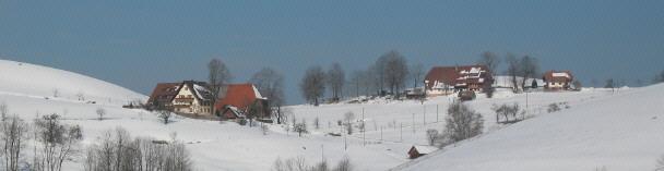 Tele-Blick vom Haldenweg nach Westen zu St.Peter-Rohr mit Jockenhof (links) und Rohrerhof am 15.3.2006