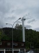 Strandbad Freiburg am 5.5.2012: Blick nach Norden - Rauch zieht ab