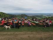 Streckereck am 1.5.2012: Blick nach Nordwesten