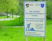 Talsperre im Unteribental zwischen Dreisamtal und St. Peter - Energiewende