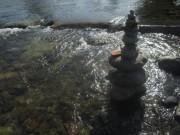 Dreisam am 19.8.2012 - Wasser und Steine