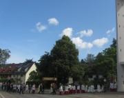 Fronleichnam FR-Littenweiler 10.6.2012: Bei der ev. Auferstehungskirche