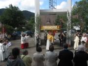 Fronleichnam FR-Littenweiler 10.6.2012: Segen für St.Barbara UND Auferstehung
