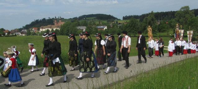 Fronleichnamsprozession in St.Peter im Hochschwarzwald am 7.6.2012