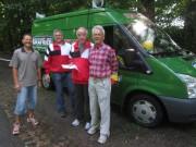 Schauinsland Berglauf 8.7.2012 - Rudi Ficzieschla (seit 1956 dabei) und Edgar Müller