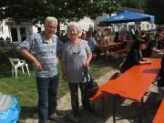 Flüchtlingswohnheim 14.7.2012 - Frau Liebner, frühere Rektorin der RSS