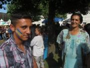 Flüchtlingswohnheim 14.7.2012 - Maxum mit Bosnien-Flagge auf der rechten Wange