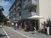 Ladenzeile Heinrich-Heine-Strasse am 7.7.2012 - Blick nach Westen