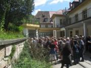 Kartaus 22.7.2012: Blick nach Osten an der Nordseite - Küche der Stiftung