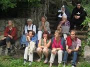 Kartaus 22.7.2012: (20) Auf der Gartentreppe