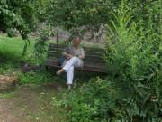 Kartaus am 22.7.2012: (27) Die Ursula-Bank beim ehem. Kräutergarten