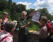 Kartaus am 22.7.2012:  (34) An der Klostergartenmauer - Frank Löbbecke erklärt