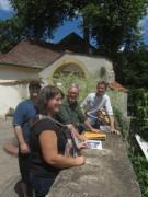 Kartaus am 22.7.2012: (37) Joachim Scheck, Frank Löbbecke, Iso Himmelsbach (von rechts)