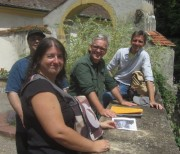 Kartaus am 22.7.2012: (38) An der Mauer zwischen Klostergarten und Kloster