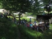 Kartaus Fest 22.7.2012: (17) Zuschauer lauschen der Fadelei-Musik