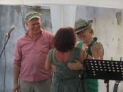 Kartaus Fest 22.7.2012: Eva-Maria Schüle gratuliert
