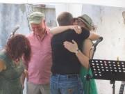 Kartaus Fest 22.7.2012: Eva-Maria und Wolfram Schüler gratulieren dem Mundart-Duo