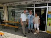 Ambulanter Pflegedienst Heiliggeistspitalstiftung am 7.7.2012 - Oliver Schlatter, Ralf Jogerst (Grips) und Gabrielle Thomety