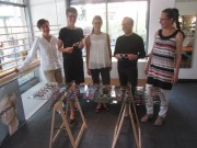 Billen Schwaer am 7.7.2012 im Geschäft v.l. Frau Pütz, Frau Schwär, Frau Lay, Herr Schwär, Frau Hesse
