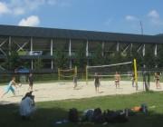 BZ im Strandbad 10.8.2012 - Beachvolley Stadt-Redaktion gegen Online-Redaktion (rechts)
