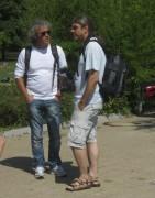 BZ im Strandbad 10.8.2012 - Die beiden Fotografen Ingo Schneider und Thomas Kunz