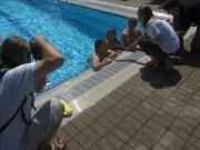 BZ im Strandbad 10.8.2012 - Interview der Schwimmtalente Joachim Röderer und Eric Hasler