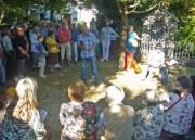 Dortu-Gedenkfeier am 31.7.2012 in FR-Wiehre - Heinz Siebold, der Sprecher der Initiative
