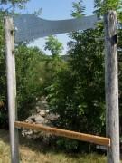 Dreisam am 19.8.2012 - Wasserweg-Wegweiser wieder mal demoliert