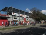 Fuechsle-Tag beim SC Freiburg am 12.8.2012 - Blick zum Stadion um 16 Uhr