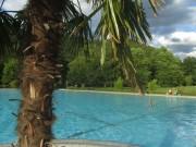 Strandbad am 8.8.2012 - Blick nach Nordosten mit der Abeendsonne um 20 Uhr