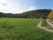 Wonnhalde 4.10.2012 - Blick nach Westen von der Strassenbahnhaltestelle