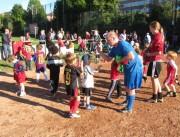 Kinderfussball beim ESV-Freiburg am 28.9.2012 - Trainerin Kim und Trainer Matthias