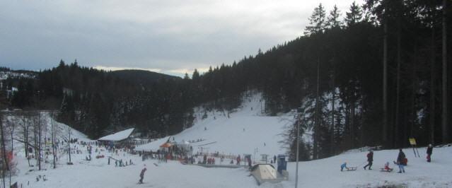 Blich nach Süden zum Skilift am Notschrei am 19.1.2014