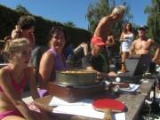 Strandbad 8.9.2011 (10) Frau Illy und Stefan Masur am Organisations-PC