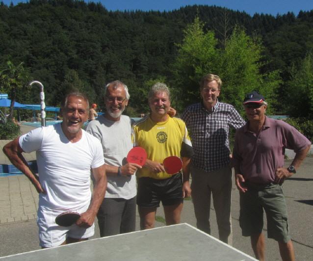 Strandbad 8.9.2011 (13) Adolf Seger, Alex Heisler, Ernst Ganter und Uli Homann