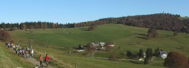 Blick nach Norden über Hofsgrund zum Schauinsland am 25.10.2012