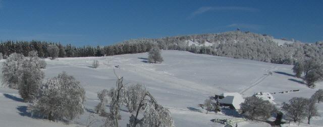 Blick nach Norden vom Höhenweg zum Schauinslandturm am 28.11.2013 - erster Schnee