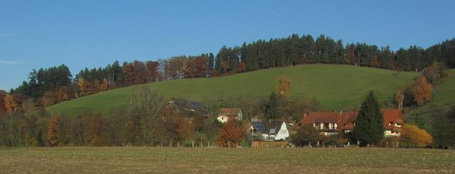 Blick nach Nordosten über den Schützen und Hannissenhof in Oberried-Weilersbach am 15.11.2012
