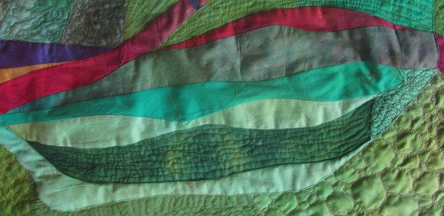 Lebenslinien - Quilt (Ausschnitt einer Decke) am 4.4.1015