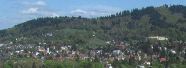 Blick vom Münsterturm am 14.4.2014 nach Nordosten auf Herdern