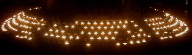 Kerzen am Marienaltar im Freiburger Münster am 3.10.2013