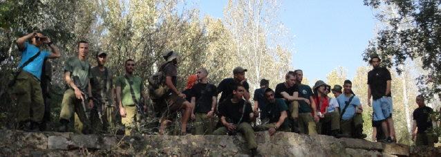 Israelische Soldaten im oberen Jordan-Tal Ende Oktober 2013